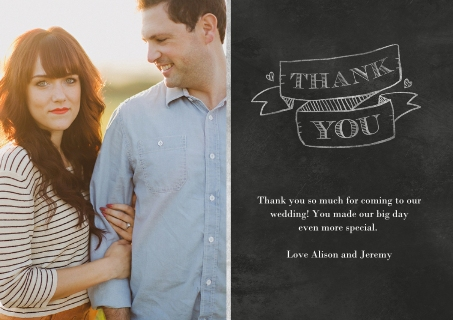 Wedding thank you cards thank you cards for wedding snapfish junglespirit Image collections