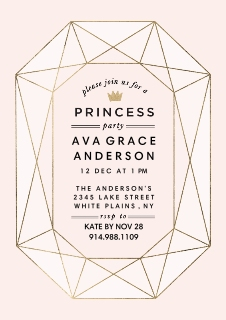 Birthday party invitations party invitations party invites birthday party invites multi birthday princess gemstone birthday princess gemstone filmwisefo Gallery
