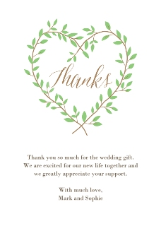Wedding thank you cards thank you cards for wedding snapfish heart branches thank you card thecheapjerseys Images