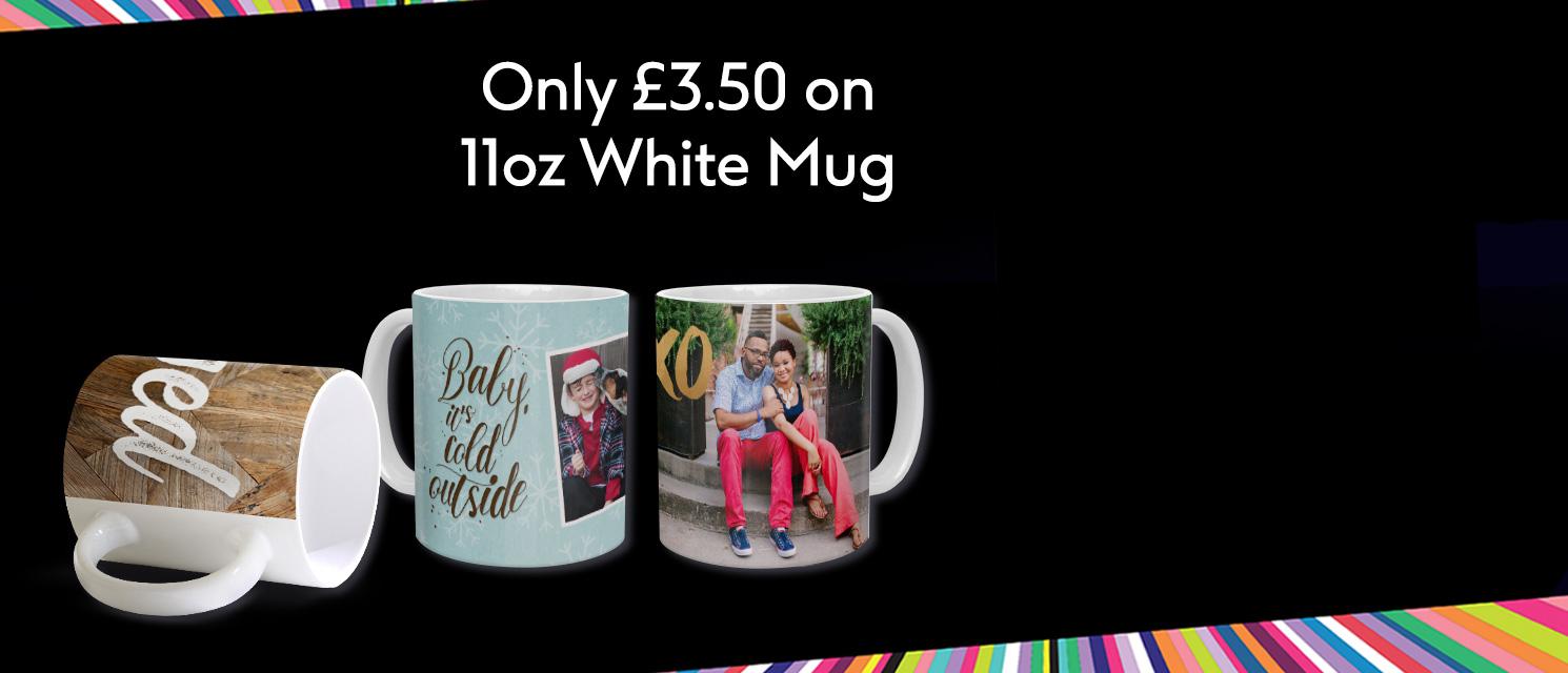 Better than 1/2 price on 11oz white mug