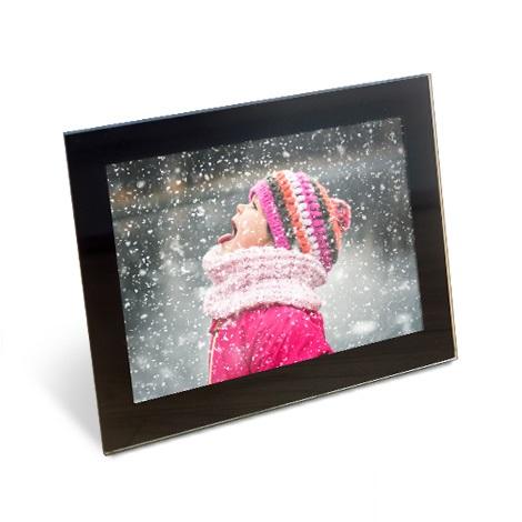 "10x8"" Framed Photo Print of girl in snow"