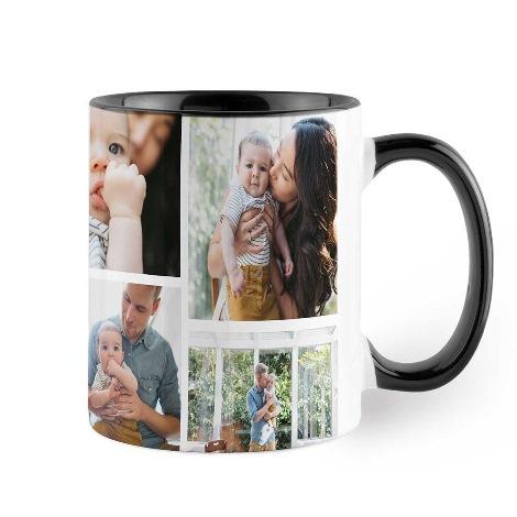11oz Black Personalised Photo Mug