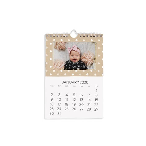 Personalised A5 Wall Calendar