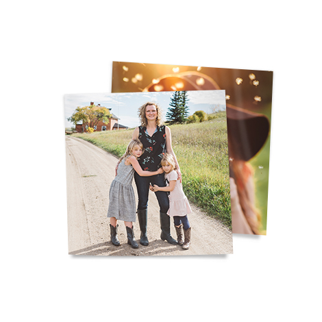 "5x5"" Square Photo Prints of women with two girls"