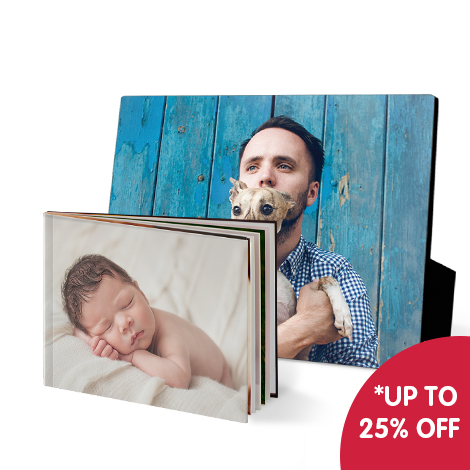 Save 10% when you buy any 1 photo book or wall art gift or save 25% when you buy any 2