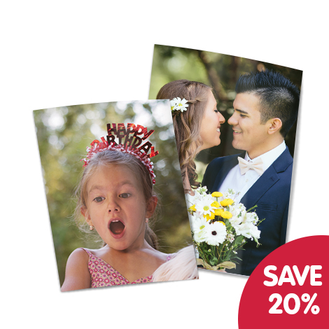 """Save 20% on 10x8"""" and 7x5"""" prints"""
