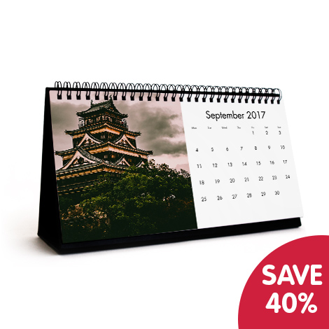 Save 40% on 10x5 desk calendar