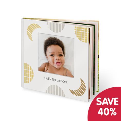 "Save 40% on 8x8"" layflat photo book"