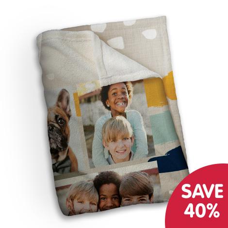 Save 40% on plush photo blanket