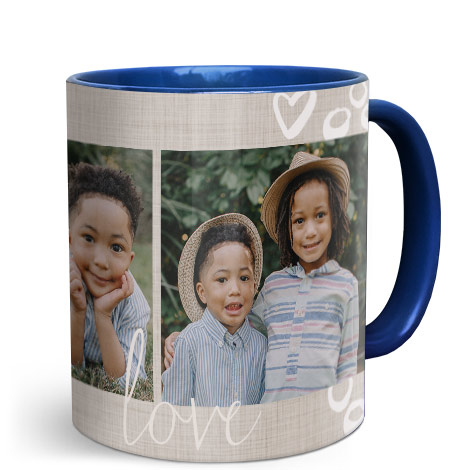 11oz Single & Collage Mug - Blue