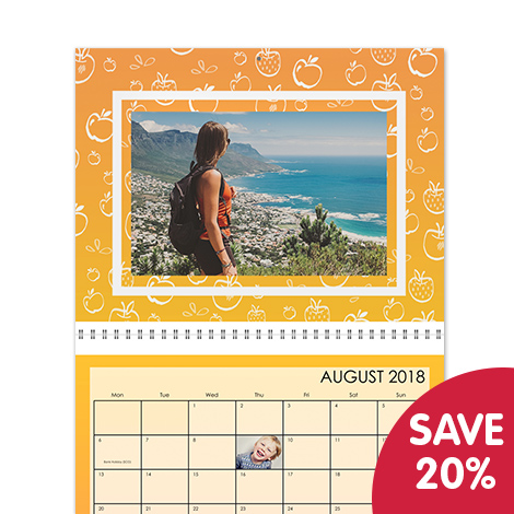 Save 20% on photo calendars