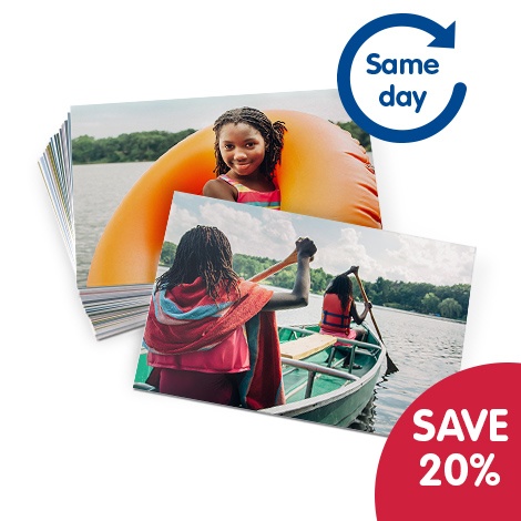 Save 20% on Same Day Collect prints