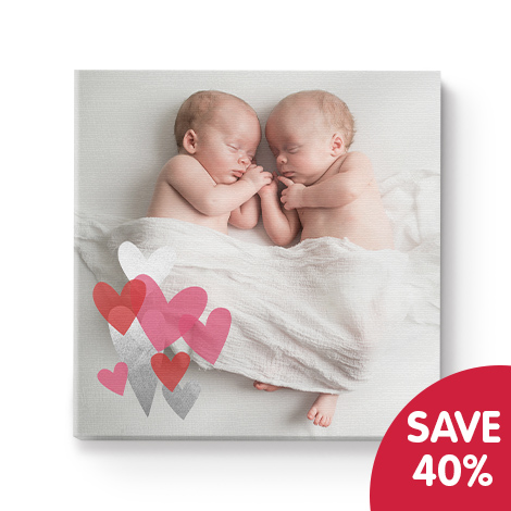 Save 40% on 12x12 same day collect canvas