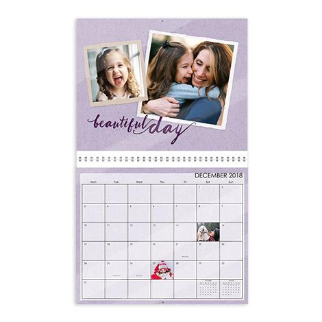 "11.5x14"" Glossy Wall Calendar"