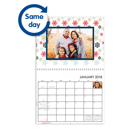 "8.5x11"" Classic Same Day Collect Wall Calendar"