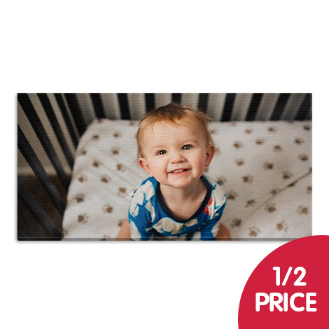 "1/2 Price on larger classic canvas sizes (24x12"" and above)"