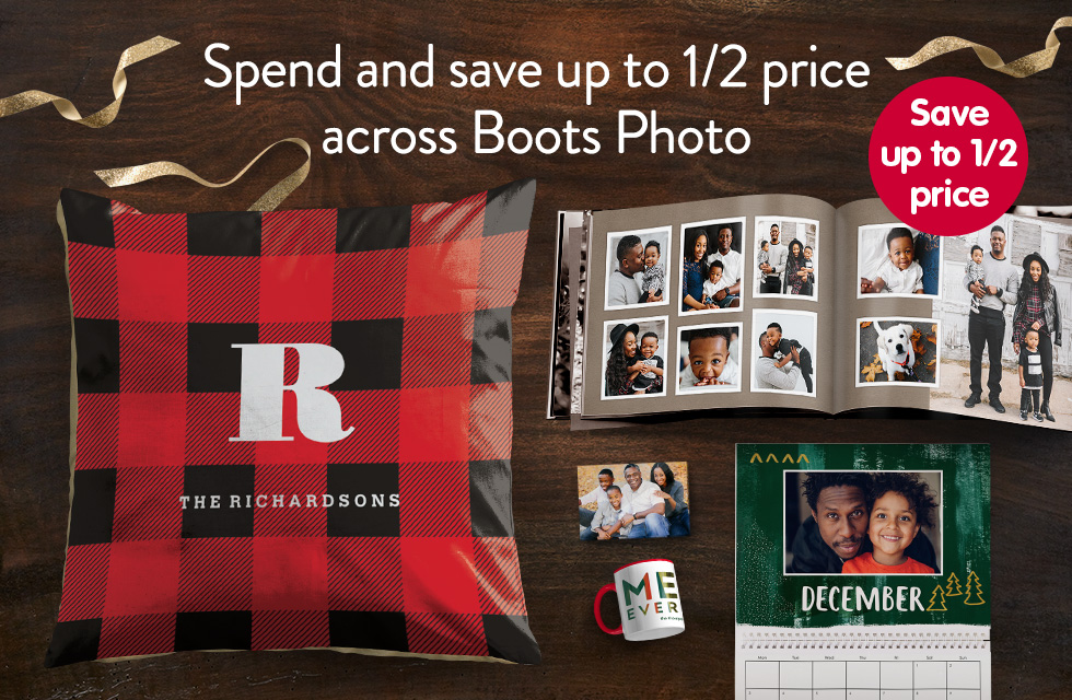 Save up to 1/2 price across Boots Photo