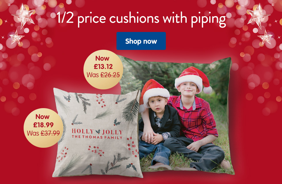 1/2 price cushions with piping