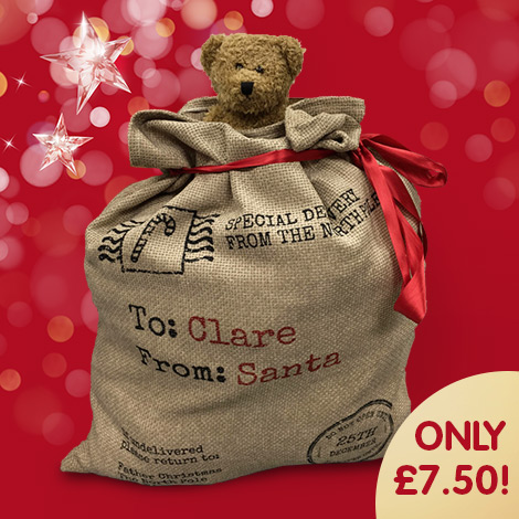 Personalised Santa Sack only £7.50