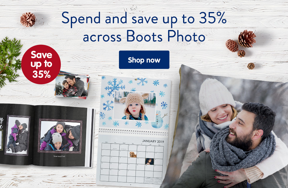 Spend and save up to 35% across Boots Photo