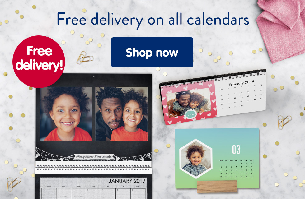 Free delivery on all calendars
