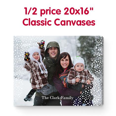 "1/2 price 20x16"" Classic Canvases"