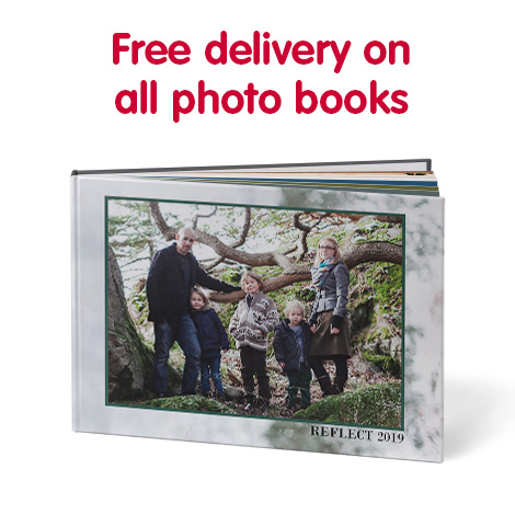 Free delivery on all photo books