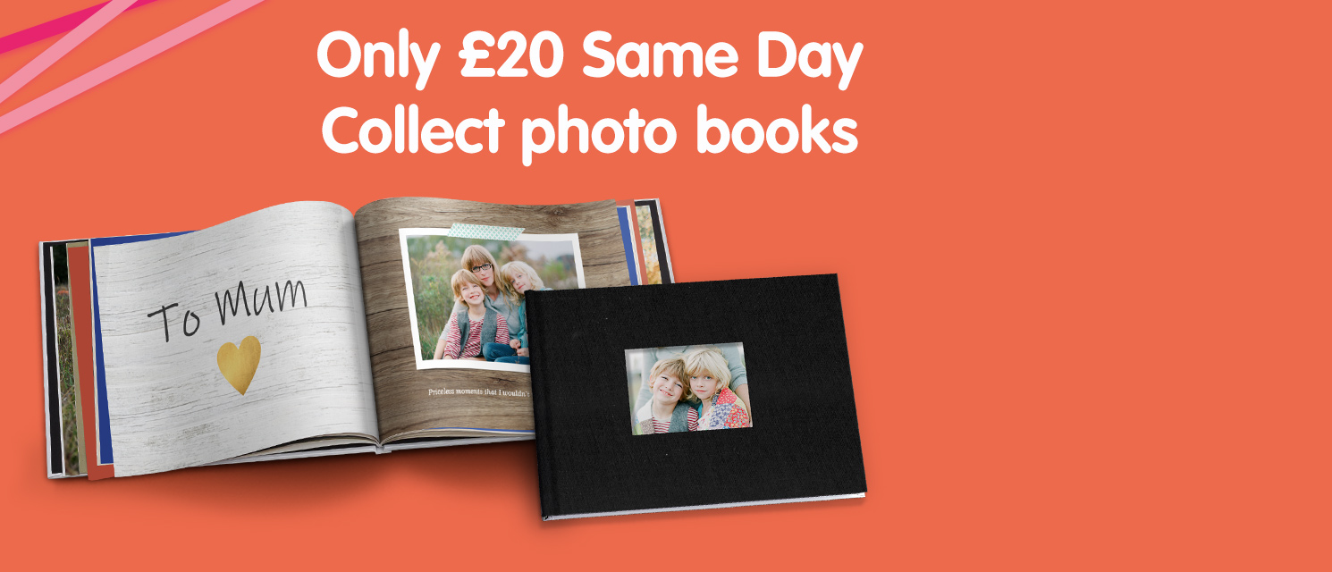 Only £20 Same Day Collect photo books