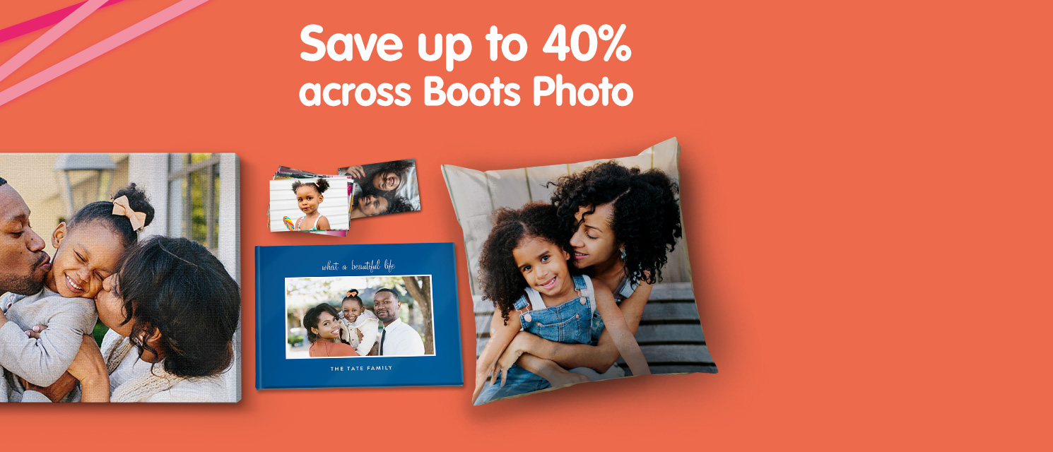Save up to 40% across Boots Photo