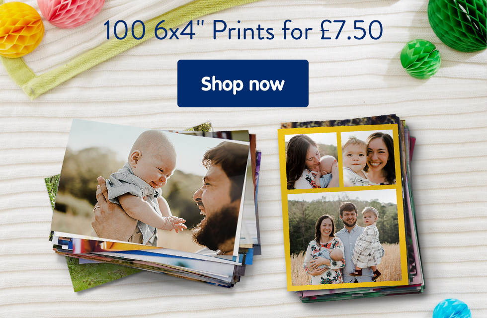 "100 6x4"" Prints for £7.50"