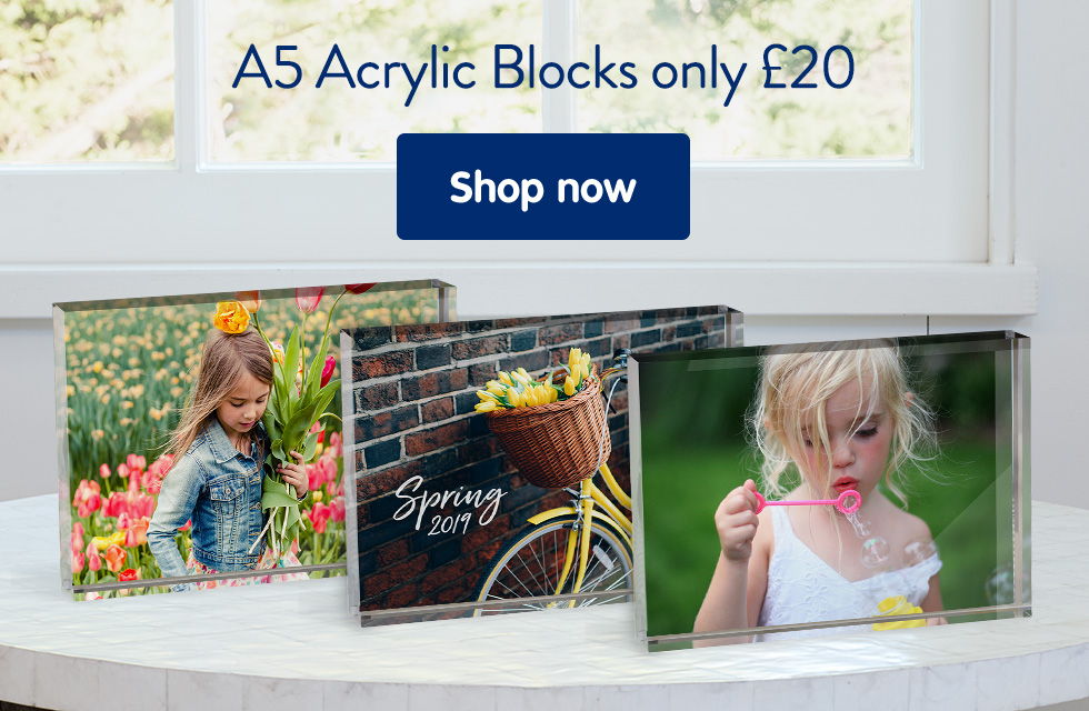 A5 Acrylic Blocks only £20