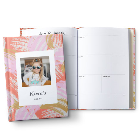 """A5 (6x8"""") Hardcover Personalised Diary"""