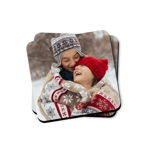 Set of 2 Personalised Photo Coasters