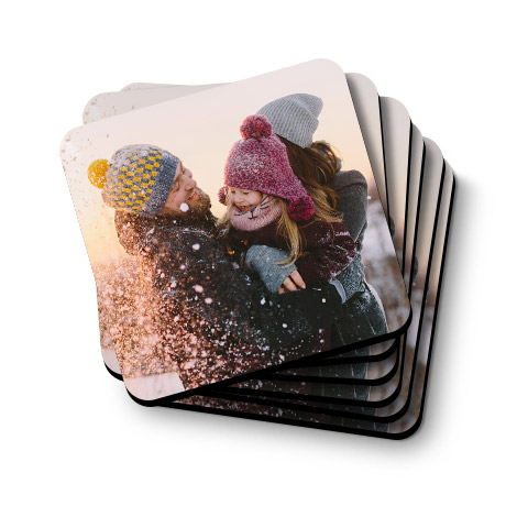 Set of 6 Personalised Photo Coasters