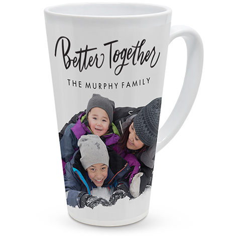 17oz Personalised Photo Latte Mug