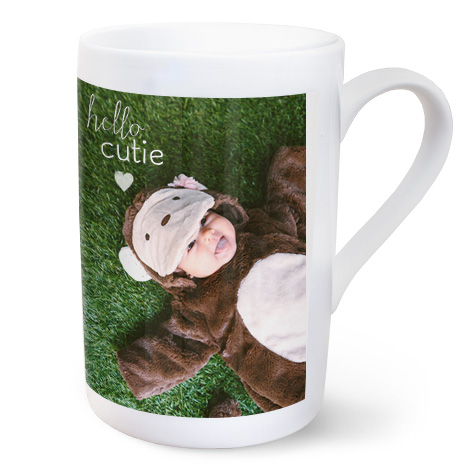 10oz Personalised Porcelain Photo Mug