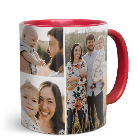 11oz Red Personalised Photo Mug