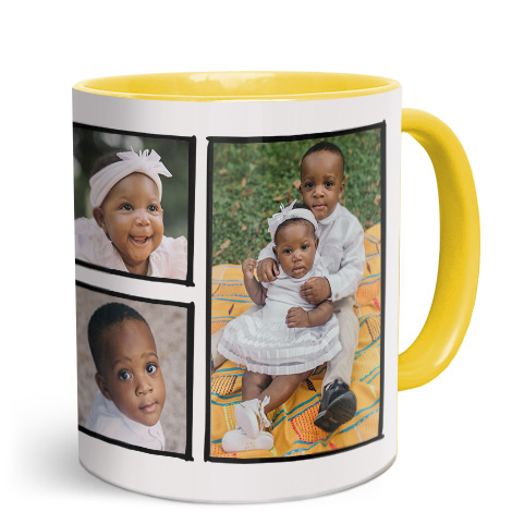 11oz Yellow Personalised Photo Mug