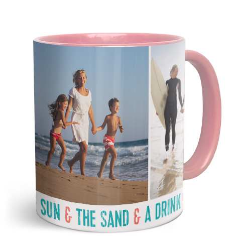 11oz Pink Personalised Photo Mug