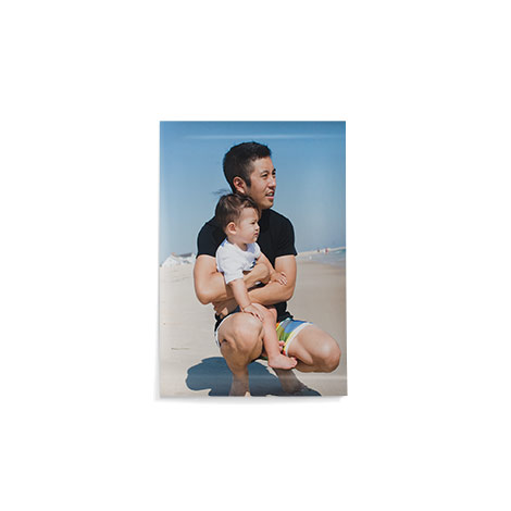 """18x12"""" Poster Print of a dad and baby"""