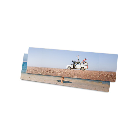 """14x4"""" Panoramic Print of vehicle at beach"""