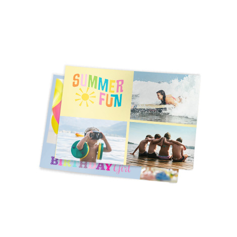 "5.3x4"" Collage Photo Print of summer fun"
