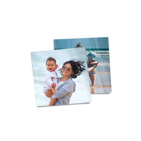 "5x5"" Square Photo Prints of women with her baby"