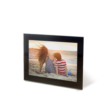 "15x10cm (6x4"") Framed Photo of a women with a boy at beach"