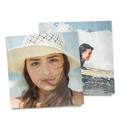 "8x8"" Square Photo Prints of women at beach"