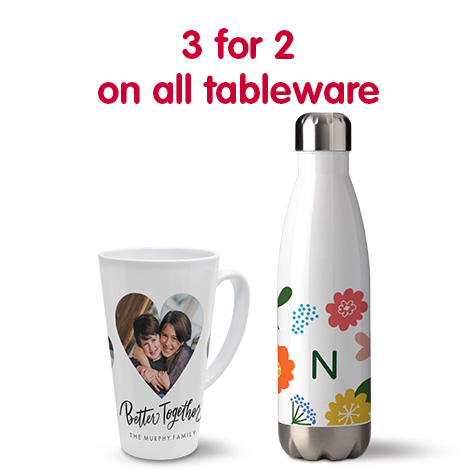 3 for 2 on all tableware