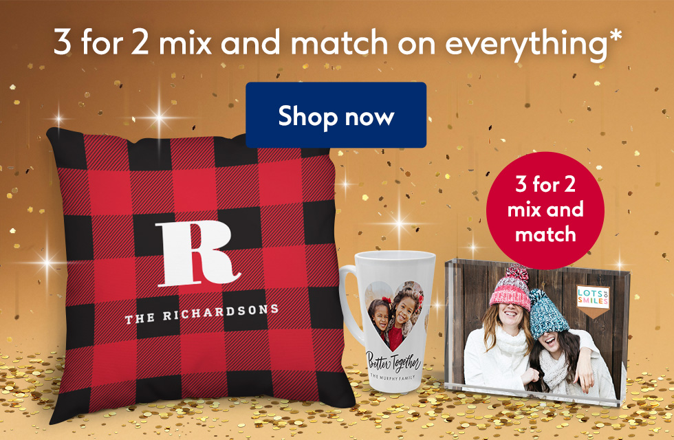 3 for 2 mix and match on everything