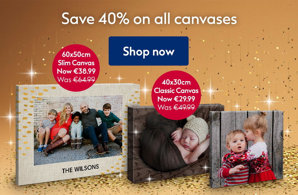 Save 40% on all Canvases