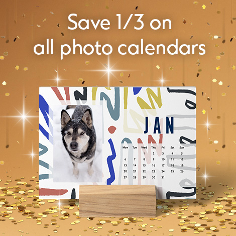 Save 1/3 on all photo calendars