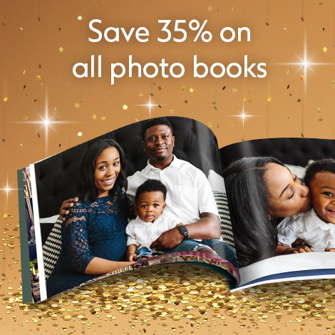 Save 35% on all Photo books